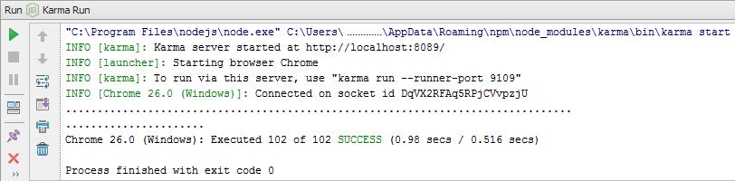 Integrating Karma (Testacular) test runner in WebStorm 6